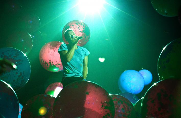 Chris Martin of Coldplay at the Xcel Energy Center in St. Paul.