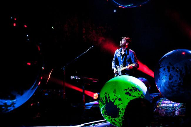 Coldplay guitarist Jonny Buckland at the Xcel Energy Center in St. Paul.