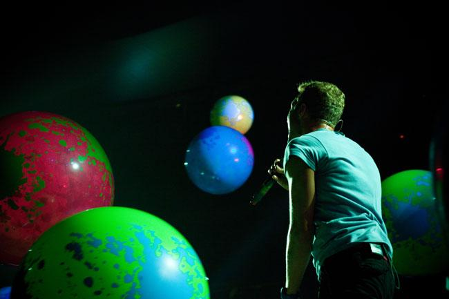 Chris Martin of Coldplay at the Xcel Energy Center.
