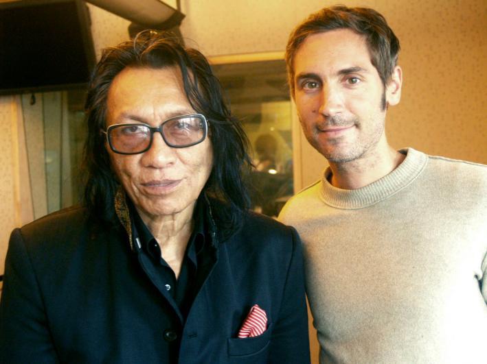 Rodriguez and Malik Bendjelloul in the MPR studios in July 2012.