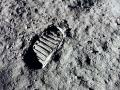 Armstrong's footprint on moon