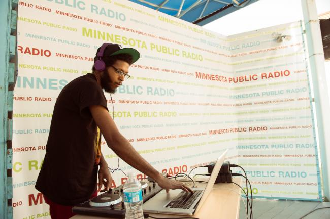 Local hip-hop artist P.O.S. performs at the State Fair.