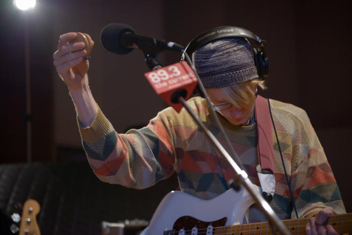 Guitarist Gwil Sainsbury of Alt-J in The Current studio.