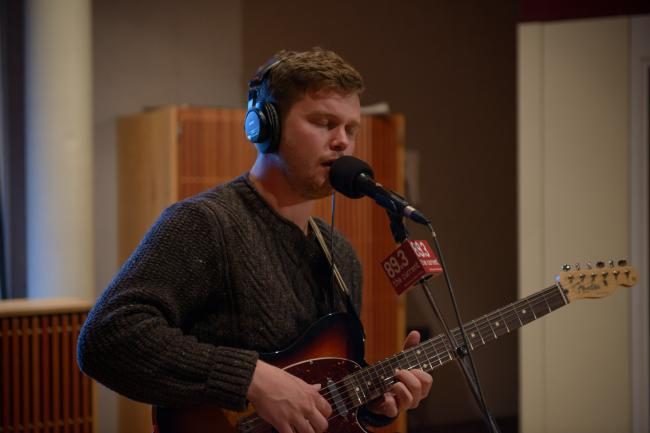 Singer Joe Newman of Alt-J in the Current studio.