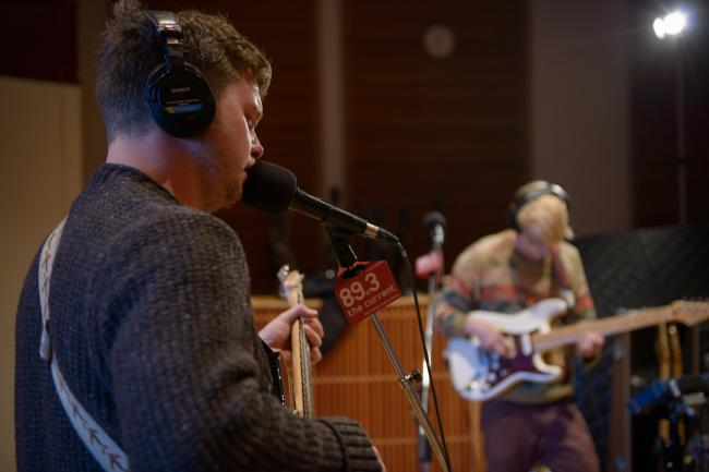 Joe Newman and Gwil Sainsbury of Alt-J in The Current studio.