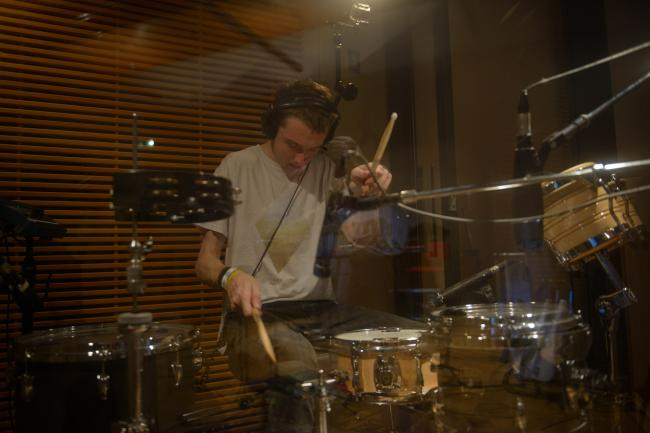 Drummer Thom Green of Alt-J in The Current studio.
