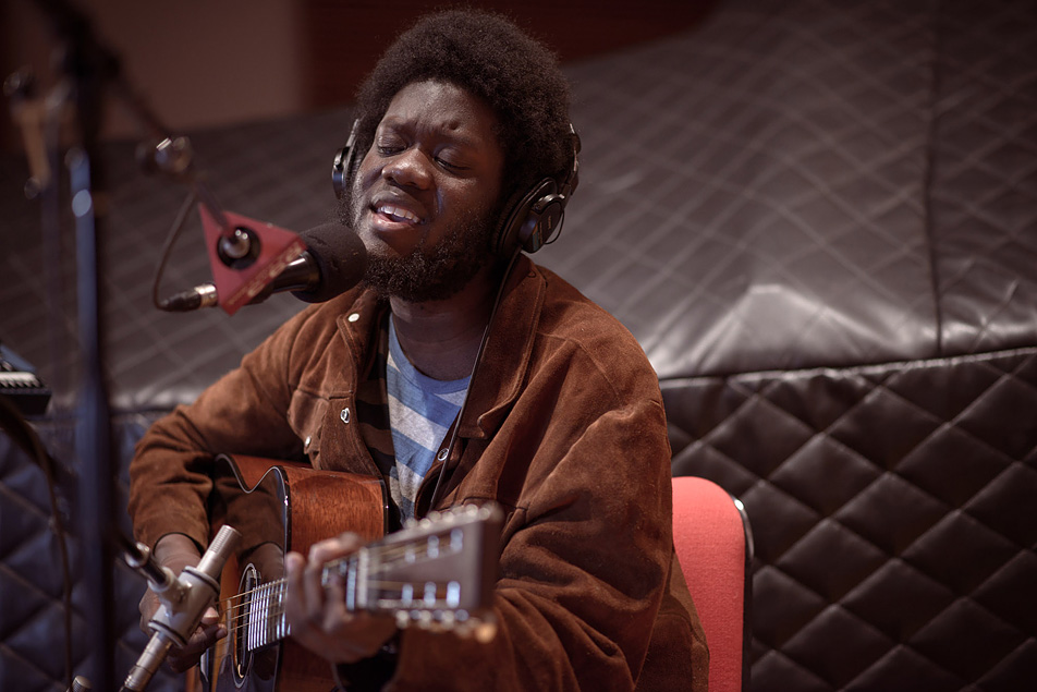 Michael Kiwanuka plays in The Current's studio.