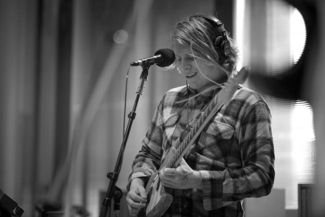 Ty Segall and his band performs in The Current studios