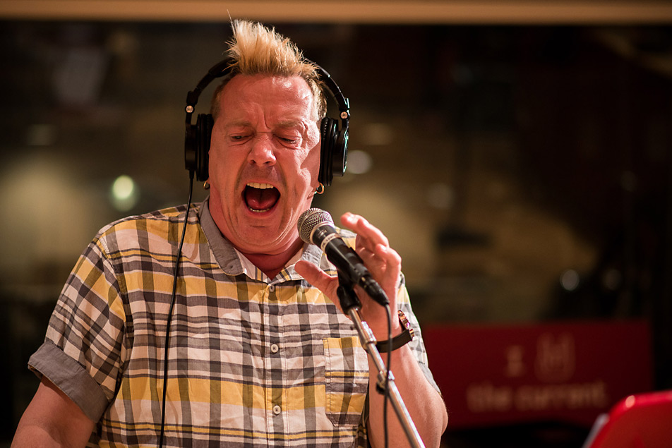 Punk and post-punk legend John Lydon in The Current studio.