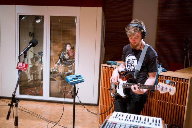 Members of San Cisco in The Current studio.