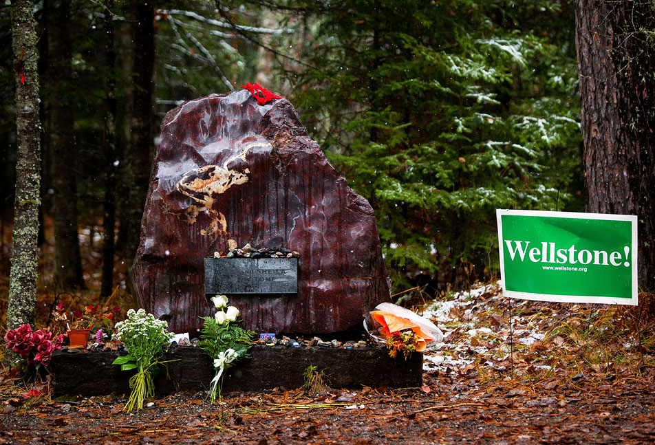 Wellstone memorial site