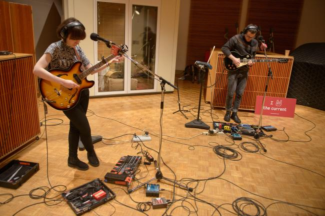 London indie-folk band Daughter in The Current studio.