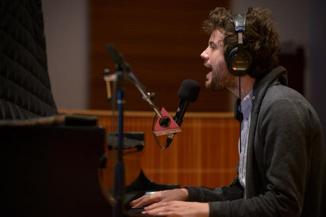 Passion Pit's Michael Angelakos in The Current studio.