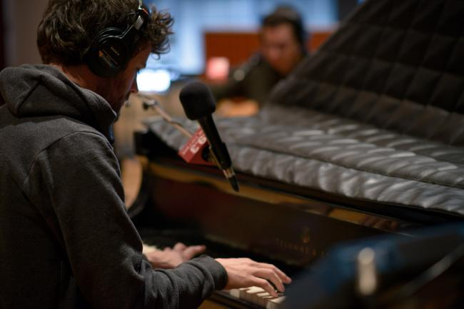 Michael Angelakos of Passion Pit played a stripped-down acoustic session.