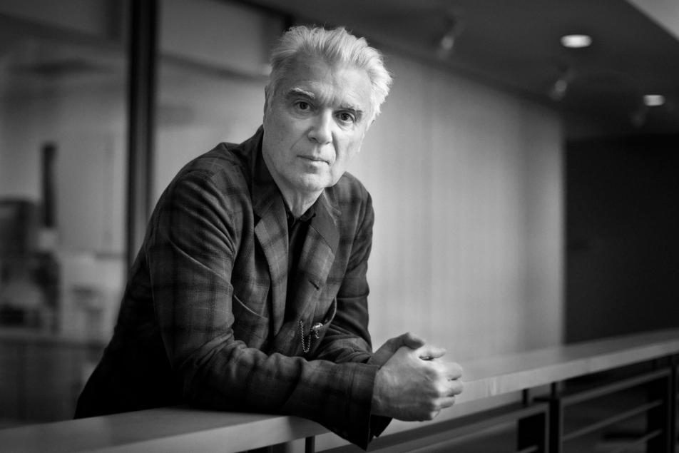 David Byrne visited Minnesota Public Radio to talk about his art installation ARIA: Play the building.