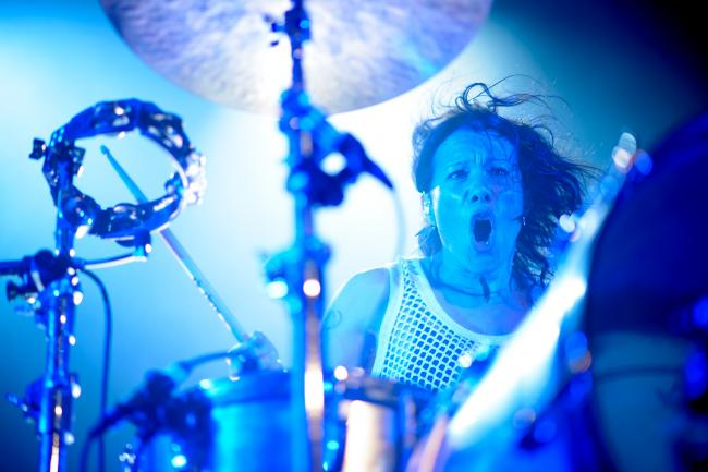 Kim of Matt and Kim at First Avenue