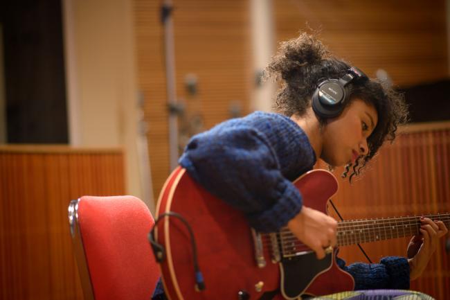 Lianne La Havas in studio at The Current.
