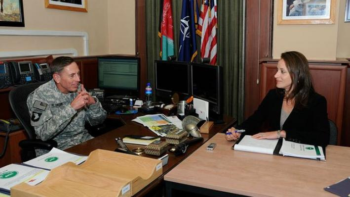 Gen. David Petraeus and biographer Paula Broadwell are shown in this undated photo.