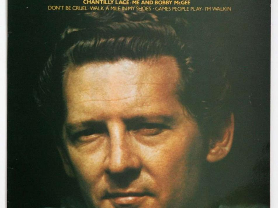 "Album art for Jerry Lee Lewis' ""The Killer Rocks On"""
