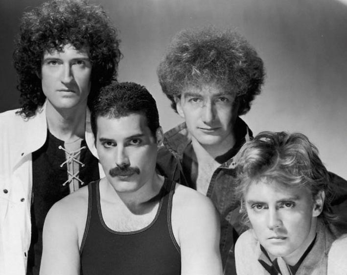 Queen: Brian May, Freddie Mercury, John Deacon and Roger Meddows