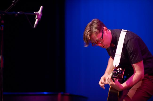 Jeremy Messersmith performs at St. Cloud's Paramount Theatre for Caravan Du Nord.