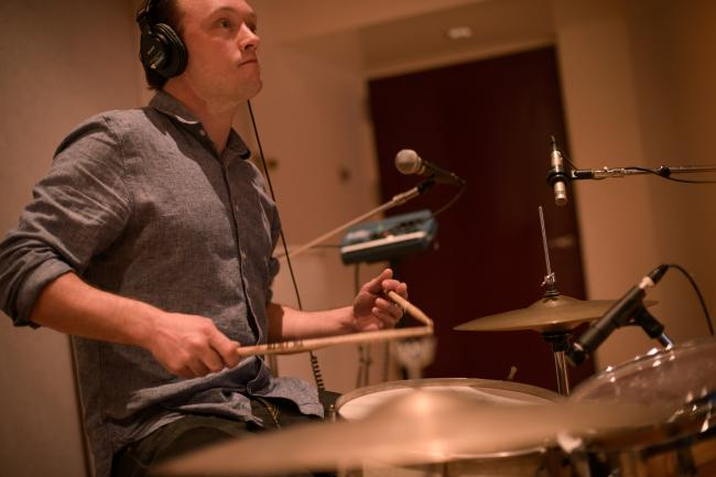 Jason Smay on drums