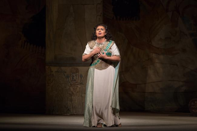 "Liudmyla Monastyrska as the title character in Verdi's ""Aida."" (Marty Sohl/Metropolitan Opera)"