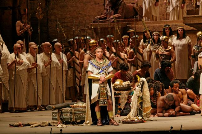 "Roberto Alagna as Radames in Verdi's ""Aida."" (Ken Howard/Metropolitan Opera)"