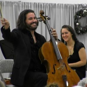 Cellist Zuill Bailey performs with the Hiland Mountain Correctional Center orchestra