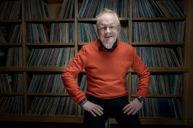 Peter Asher posed for a photo at The Current last year.