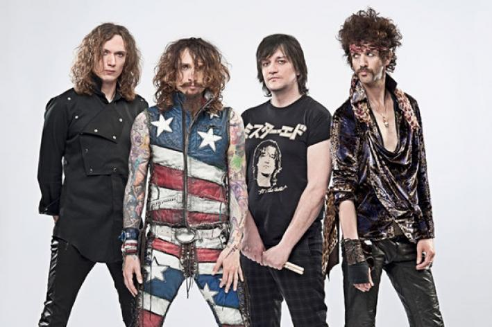 The Darkness are known for their falsetto.