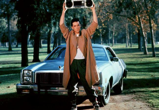 "John Cusack blasts The Current from his boombox in this romantic scene from ""Say Anything."""