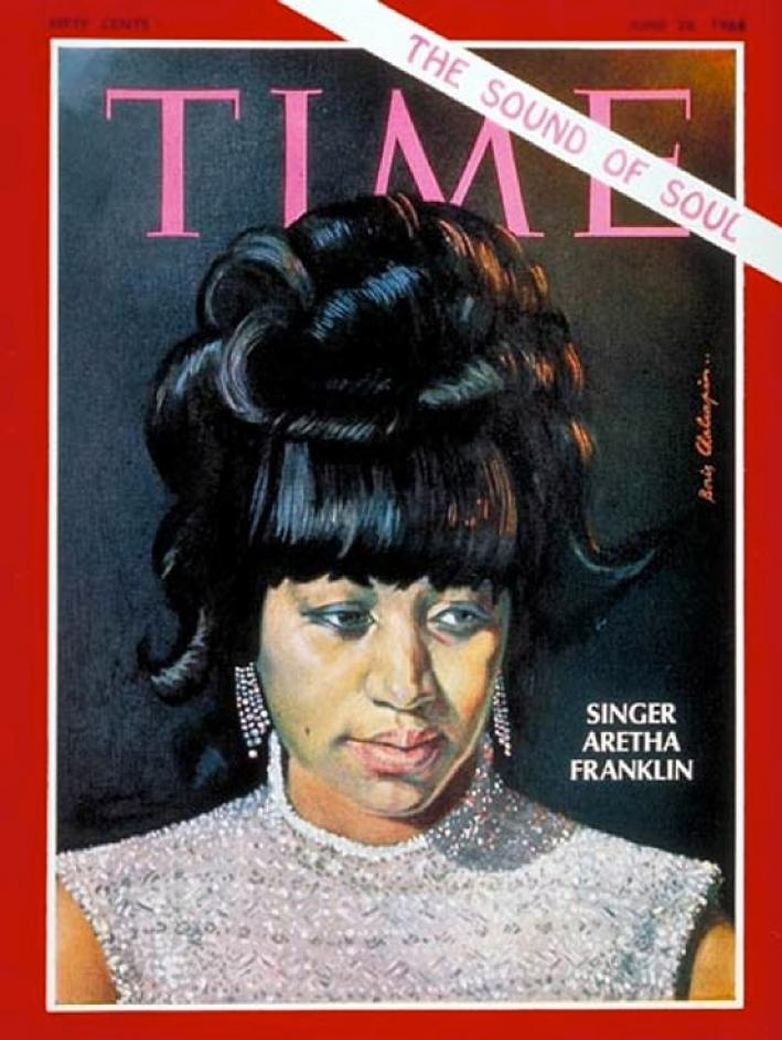 Aretha Franklin on the cover of Time Magazine
