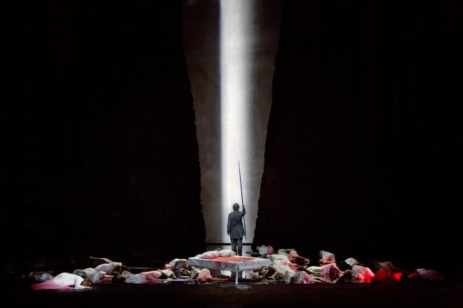 "A scene from Act II of Wagner's ""Parsifal"" with Jonas Kaufmann as the title character. (Ken Howard/Metropolitan Opera)"