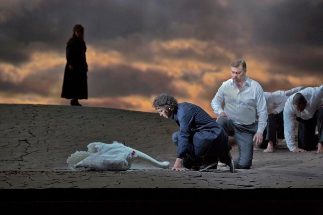 "Jonas Kaufmann as the title character and Rene Pape as Gurnemanz in Wagner's ""Parsifal."" (Ken Howard/Metropolitan Opera)"