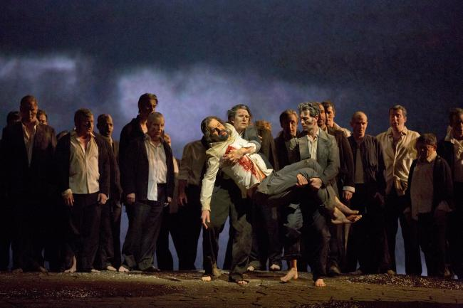 "Peter Mattei as Amfortas in Wagner's ""Parsifal."" (Ken Howard/Metropolitan Opera)"