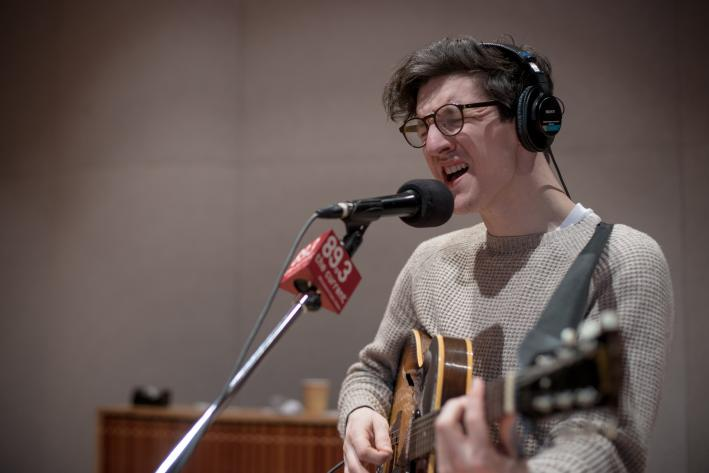 British singer-songwriter Dan Croll in The Current studio.