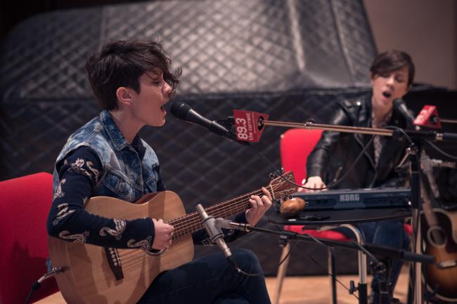 Tegan and Sara's session was their third performance at The Current.