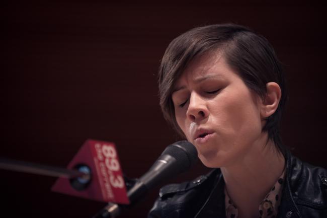 Sara Quin of musical twins Tegan and Sara.