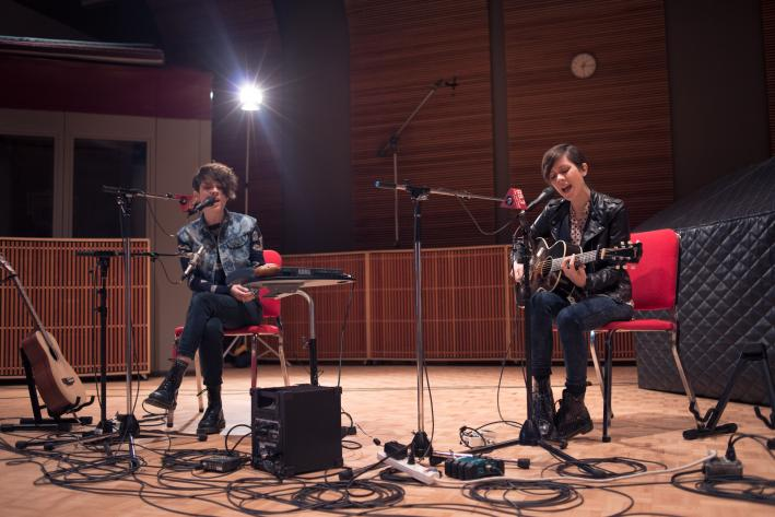 Tegan and Sara perform in The Current studio.