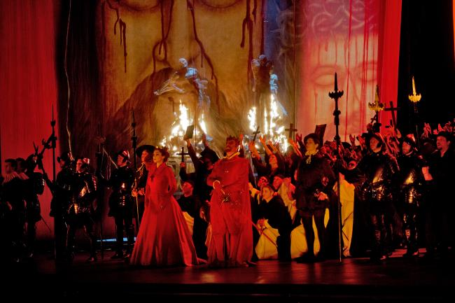 "A scene from Verdi's ""Don Carlo."" (Ken Howard/Metropolitan Opera)"
