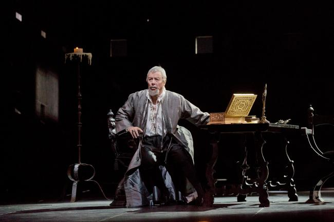 "Ferruccio Furlanetto as Philip II in Verdi's ""Don Carlo."" (Ken Howard/Metropolitan Opera)"