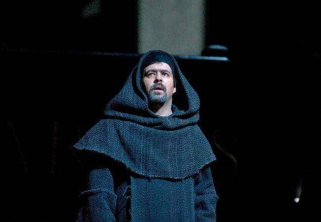 "Miklos Sebestyen as Frate in Verdi's ""Don Carlo."" (Ken Howard/Metropolitan Opera)"