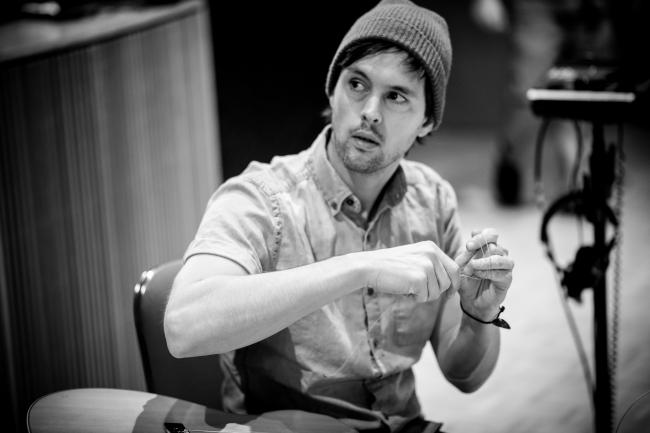 Singer and guitarist Keith Jeffery of Atlas Genius in The Current studio.