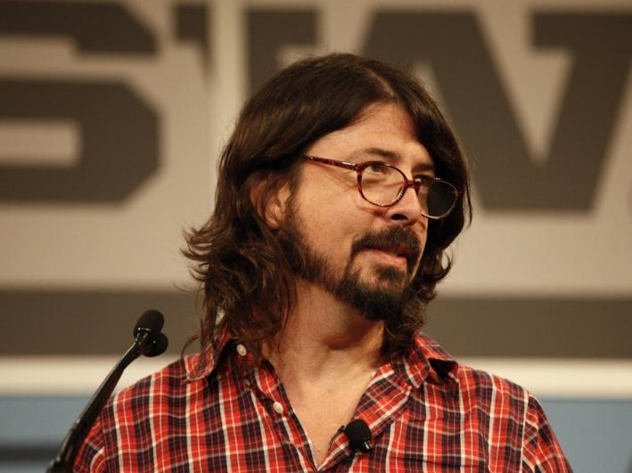 Dave Grohl delivering the keynote at SXSW 2013 in Austin, Texas.