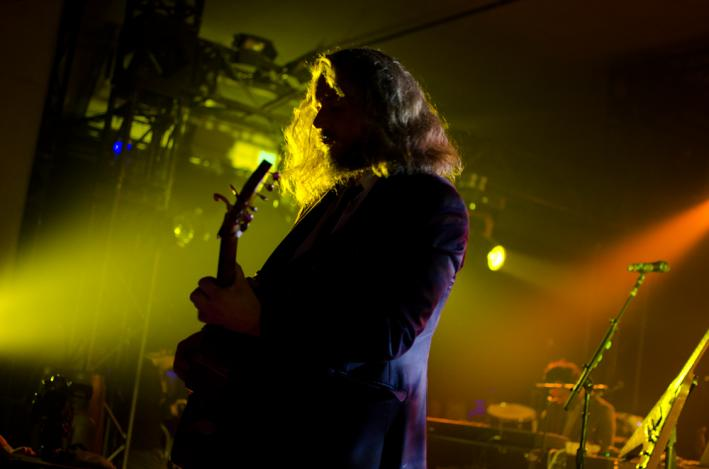 Jim James playing his solo debut at the Hype Hotel