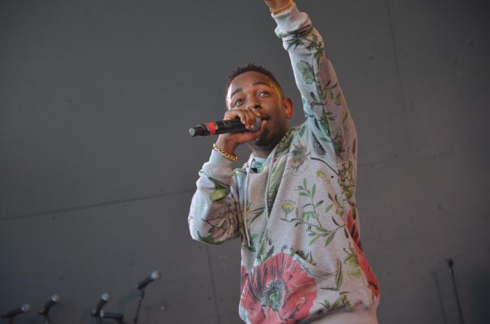 Kendrick Lamar at the SPIN day stage at Stubb's, March 15, 2013