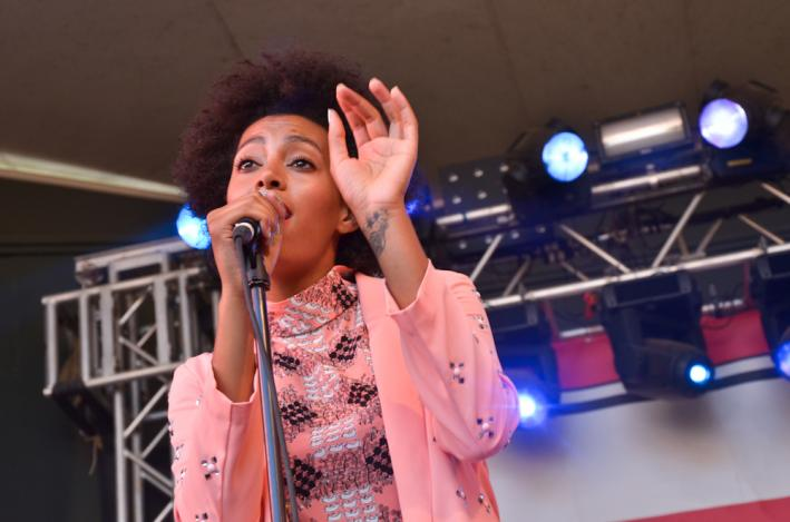 Solange Knowles at SPIN's day party at Stubb's.