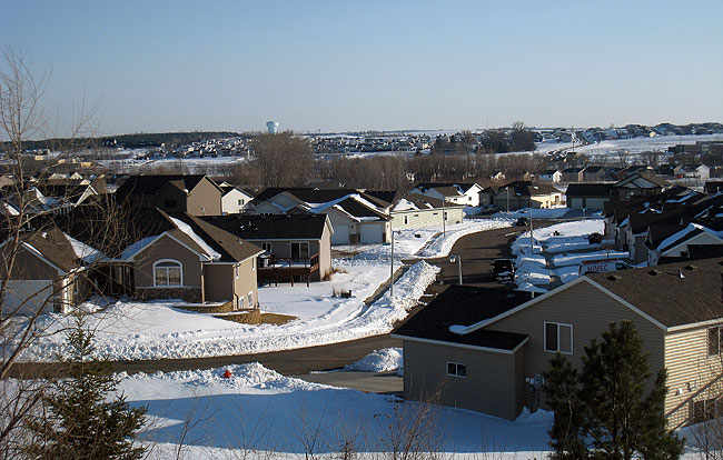 A string of housing developments can be seen on the hills of northwest Rochester. The area of the city has accounted for about 50 percent of the city's growth in recent years. Overall, Rochester is Minnesota's fastest-growing city. From 2000 to 2010, the city grew 24 percent to 106,769 residents and housing development continue to push the boundaries of the city further north and south.