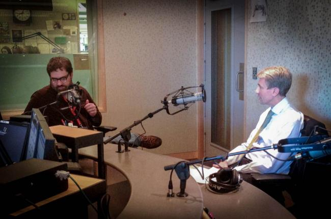 Minneapolis Mayor RT Rybak records a Theft of the Dial with Steve Seel.